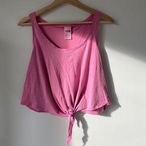 Victoria's Secret Pink Tie Tank - Pink